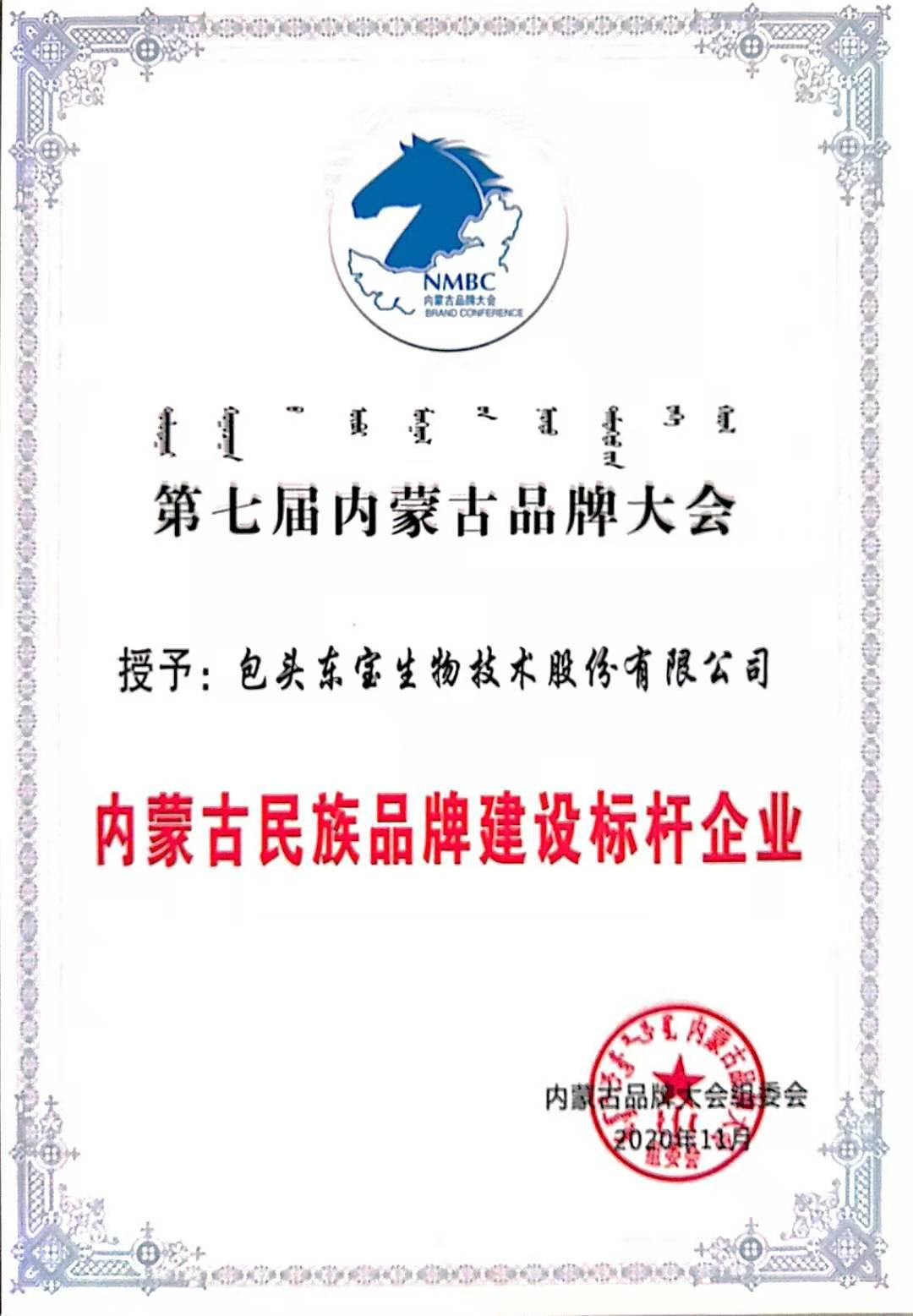 内蒙古民族品牌建设标杆企业